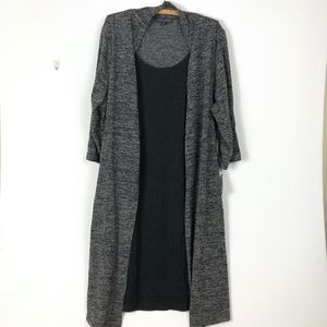 Connected Apparel Dress Attached Swing Sweater 20W